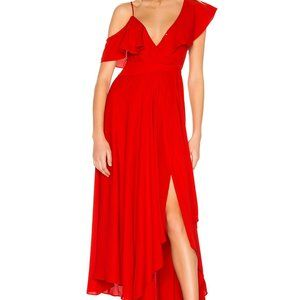 LIKELY x REVOLVE LEILANI GOWN IN RED, SIZE 6,NWT